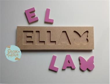 Grote foto naampuzzel 0 5 letters zelf samen te stellen kinderen en baby kraamcadeaus en geboorteborden