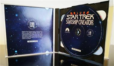 Grote foto pc vintage star trek deluxe starship creator spelcomputers games pc