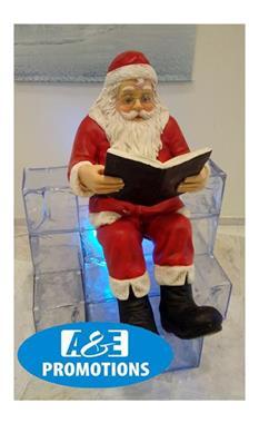 Grote foto slee etalering huren kerstman figuur oostende diensten en vakmensen marketing en reclame