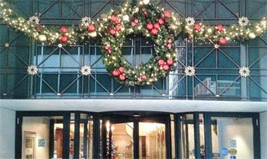 Grote foto geleverde kerstbomen afbeeldingen huur kerstboom diensten en vakmensen feesten