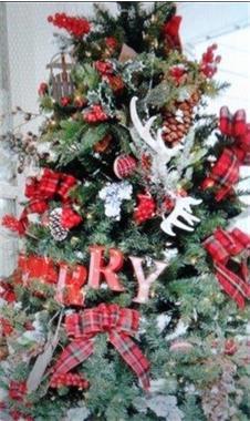 Grote foto kerstboom huren levering aan bedrijven nu diversen cadeautjes en bonnen
