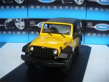 Grote foto maisto 1 18 jeep wrangler willy 2014 geel hobby en vrije tijd 1 18