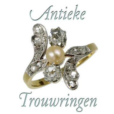 Grote foto originele antieke trouwring sieraden tassen en uiterlijk ringen voor haar