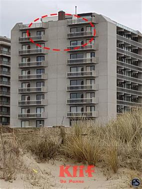 Grote foto groot zeezicht appartement zwembad 3 balkons vakantie belgi