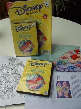 Grote foto disney de kleine zeemeermin tijdschrift en cd rom kinderen en baby kindervideo en dvd