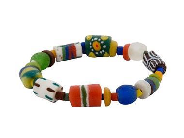 Grote foto ghanese kleurrijke glaskralen armband sieraden tassen en uiterlijk armbanden voor haar