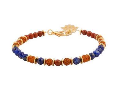 Grote foto armband met rudraksha lapis lazuli en jaspis sieraden tassen en uiterlijk armbanden voor haar