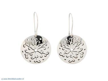 Grote foto mexicaanse zilveren oorbellen met bloemmotief sieraden tassen en uiterlijk oorbellen