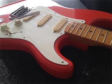 Grote foto fender squire hank b. marvin muziek en instrumenten gitaren elektrisch