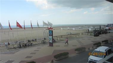 Grote foto kust app zeedijk knokke heist vakantie belgi