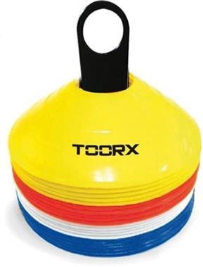 Grote foto toorx agility cones set 24 stuks met rek sport en fitness basketbal