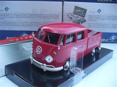 Grote foto motormax 1 24 vw volkswagen t1 pick up rood hobby en vrije tijd 1 24