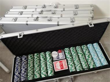 Grote foto pokerset van 2400 chips hobby en vrije tijd gezelschapsspellen overige