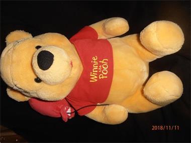 Grote foto pluche winnie the pooh met ballon kinderen en baby knuffels en pluche