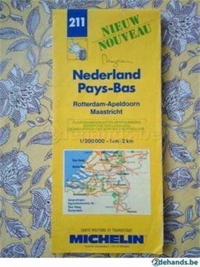 Grote foto michelin routekaart nederland boeken atlassen en landkaarten