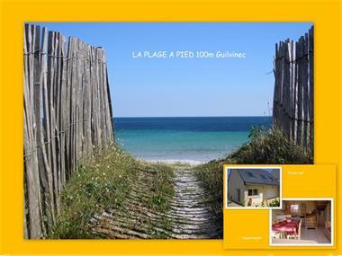 Grote foto la plage a pied 100m guilvinec bretagne vakantie frankrijk