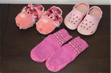 Grote foto pantoffels maat 28 3 paar meisje kinderen en baby schoentjes en sokjes