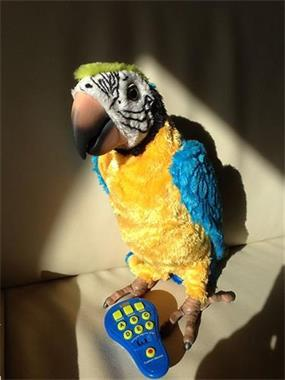 Grote foto fur real friends coco de papegaai kinderen en baby knuffels en pluche