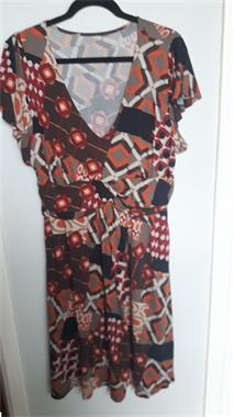 Grote foto kleed met korte mouwen kleding dames jurken en rokken