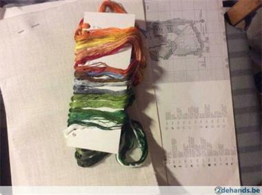 Grote foto borduurpakket hanger hobby en vrije tijd borduren