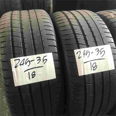 Grote foto 2x pirelli pzero 245 35 18 rft zomerbanden 4mm auto onderdelen overige auto onderdelen