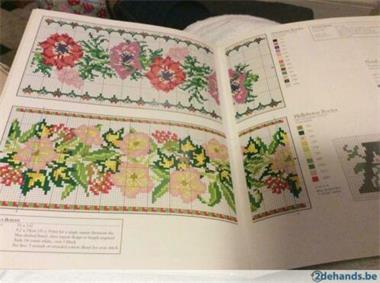 Grote foto borduurboek boorden en alfabetten hobby en vrije tijd borduren
