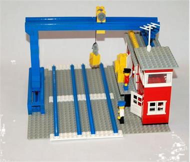 Grote foto lego treinen 4 5v goederenstation 165 kinderen en baby duplo en lego