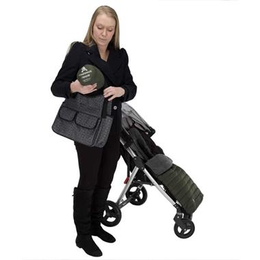 Grote foto cuddleco voetenzak en voering 2 in 1 comfi snug kaki kinderen en baby kinderwagens
