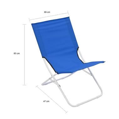 Grote foto vidaxl strandstoelen 2 st inklapbaar blauw caravans en kamperen overige caravans en kamperen