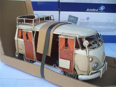 Grote foto tinplate 1 18 vw volkswagen t1 camper surfing hobby en vrije tijd 1 18