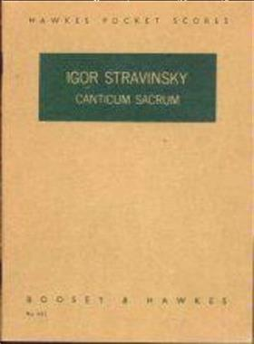Grote foto igor stravinsky canticum sacrum boeken muziek