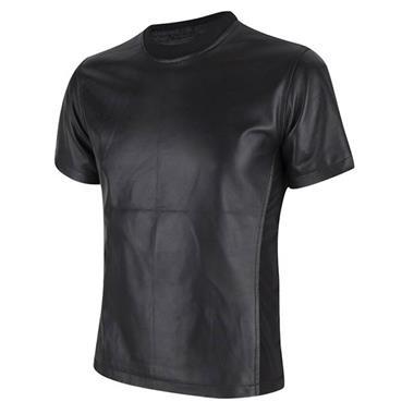 Grote foto fraai zwart leren tshirt in small t m 6xl kleding heren t shirts