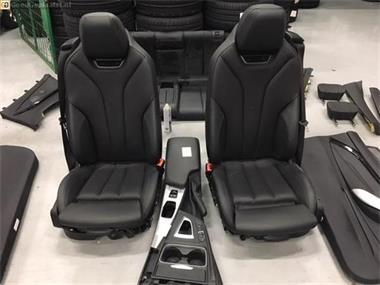 Grote foto volledig lederen sportinterieur bmw 4serie cabrio f33 zwart auto onderdelen overige auto onderdelen
