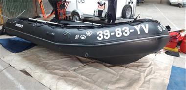 Grote foto brig 410 hd met suzuki df 25 motor trailer watersport en boten rubberboten