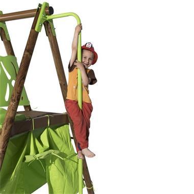 Grote foto trigano brandweerpaal sam voor houten schommelsets 2 3 m j 9 kinderen en baby los speelgoed