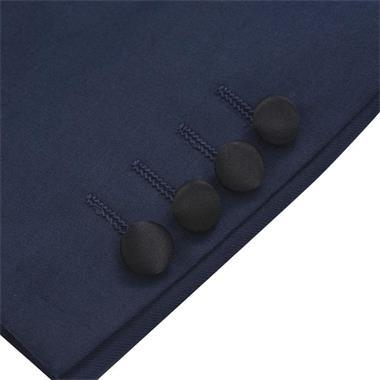 Grote foto vidaxl tweedelig kostuum smoking voor mannen marineblauw maa kleding heren kostuums en colberts