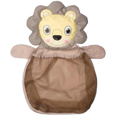 Grote foto bo jungle b bath opbergnet voor speelgoed leeuw bruin b90030 kinderen en baby overige