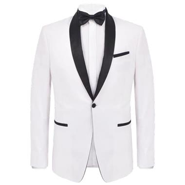 Grote foto vidaxl tweedelig kostuum smoking voor mannen wit maat 50 kleding heren kostuums en colberts