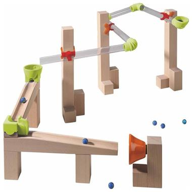Grote foto haba knikkerbaan startset race base 302133 kinderen en baby duplo en lego