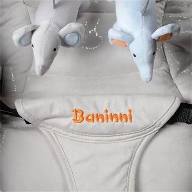 Grote foto baninni wipstoel wieg 2 in 1 nina zeno bruin en beige bnbo00 kinderen en baby kinderstoelen