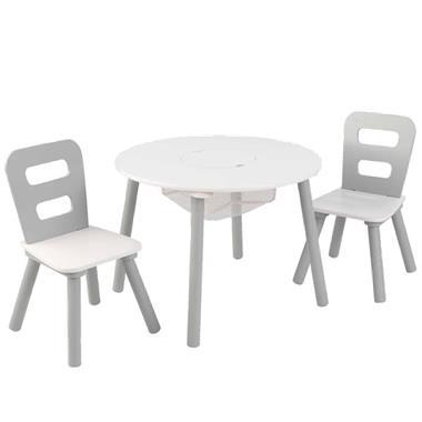 Grote foto kidkraft kinderopbergtafel en stoelen set grijs massief hout kinderen en baby complete kinderkamers
