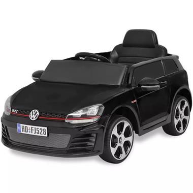 Grote foto vidaxl elektrische auto vw golf gti 7 zwart 12 v met afstand kinderen en baby los speelgoed