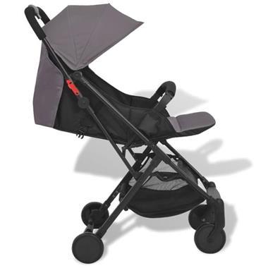 Grote foto vidaxl pocket buggy grijs 89x47 5x104 cm kinderen en baby kinderwagens
