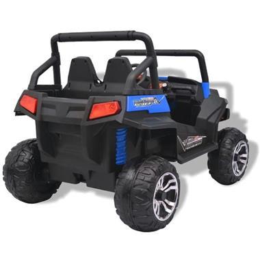 Grote foto vidaxl elektrische speelgoedauto voor 2 personen blauw en zw kinderen en baby los speelgoed