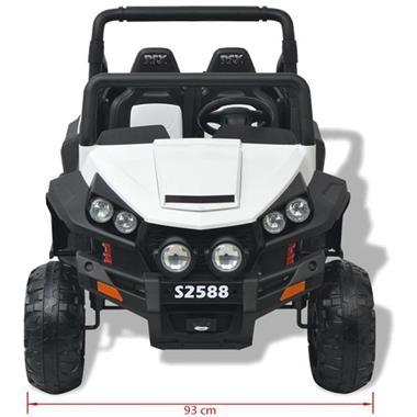 Grote foto vidaxl elektrische speelgoedauto voor 2 personen wit en zwar kinderen en baby los speelgoed