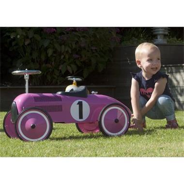 Grote foto retro roller loopauto marilyn kinderen en baby los speelgoed