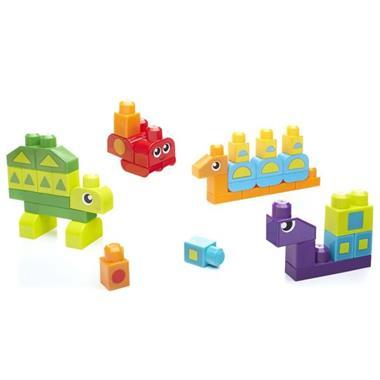 Grote foto mega bloks first builders vormen bouw set 40 stuks dxh34 kinderen en baby duplo en lego