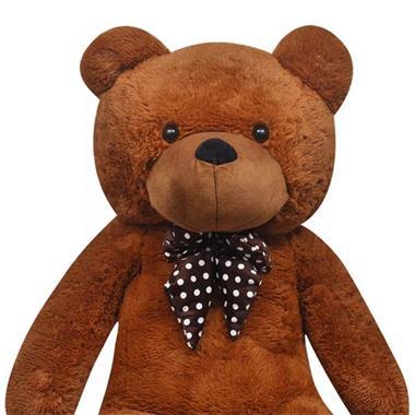 Grote foto vidaxl teddybeer xxl 175 cm zacht pluche bruin kinderen en baby knuffels en pluche