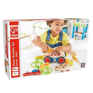 Grote foto hape basis bouwset e3080 kinderen en baby duplo en lego