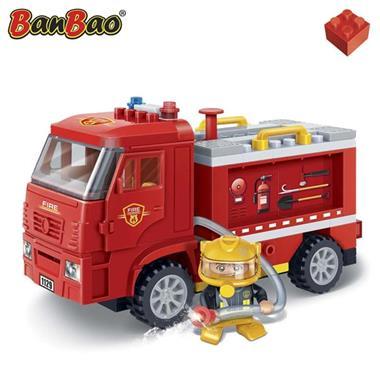 Grote foto banbao brandweerauto 7116 kinderen en baby duplo en lego